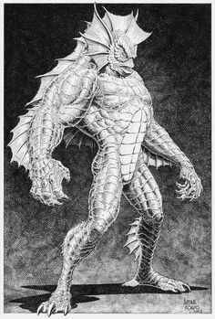 "The Creature from the Black Lagoon (Amphibious Humanoid) (Amazon Rainforest)  Agility.  Berserker Strength.  Claws.  Escape Artist.  Healing.  Longevity.  Stamina.  Sub-Mariner.  Super Strength.  Unarmed Combat. 7' 0"" tall."