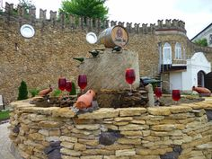 """Wine fountain"" at Mileştii Mici near Chişinău The Second City, Eastern Europe, Fountain, Wineries, Belgium, Red Wine, Countries, Adoption, Traveling"