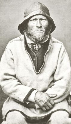 A Sea Saami Man, Ivar Samuelsen, Norway, 1884 by Bonaparte