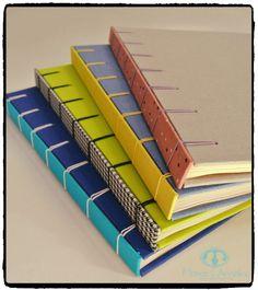 Caderno com costura belga secreta. Um charme!!