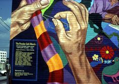The Freedom Quilt Mural  David Fichter - Public Mural Portfolio - Boston Murals - Boston Muralist