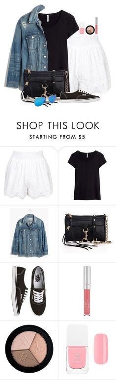 """""""Untitled #2986"""" by abigailtaylor ❤ liked on Polyvore featuring Topshop, H&M, Madewell, Rebecca Minkoff, Vans, It Cosmetics, Formula X and Ray-Ban"""