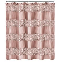 Sinatra Shower Curtain In Blush - The Sinatra Shower Curtain brings style and elegance to your bathroom. This chic shower curtain is designed with sequined panels for added flair. Coordinate with other Sinatra bath accessories for a complete look. Shower Curtains Walmart, Curtains Kohls, Custom Shower Curtains, Fabric Shower Curtains, Swag Curtains, Bohemian Curtains, Hanging Curtains, Bathroom Curtains, Sequin Shower Curtain