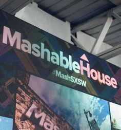 With some help from Wayin the Mashabe House features an epic social media wall for the events taking place at SXSW
