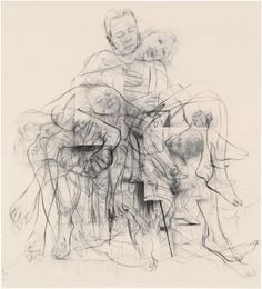 """Jenny Saville """"Chapter (for Linda Nochlin)"""" Jenny Saville is THE most expensive living female artist, but thanks to a… Life Drawing, Figure Drawing, Painting & Drawing, Jenny Saville Paintings, Gagosian Gallery, A Level Art, Hirst, Meet The Artist, Museum Exhibition"""