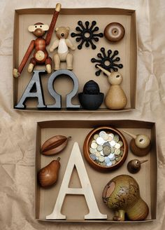 Still Life with letters and toys