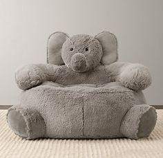 cuddle plush elephant chair