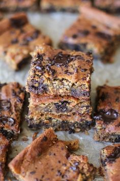 Peanut butter chocolate chip chickpea bars are gluten-free, grain-free, dairy-free, refined sugar-free, and super easy to prepare in your blender. Plus, they're vegan and packed with fiber an…