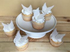 Angel Wings Angel Cupcake Toppers Cake Decorations by Silvermisted