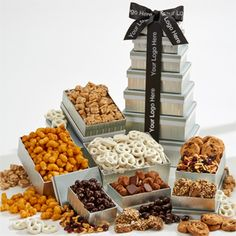 ... butter toffee, dark chocolate covered almonds, dried fruit and nut mix