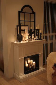 1000 Images About Candle Fireplaces On Pinterest Candle