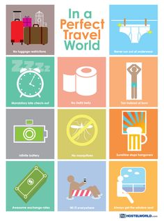 In a perfect Travel world..... #Humour #Fun #Travel   What would you add?