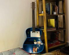 Your place to buy and sell all things handmade Guitar Shelf, Guitar Tutorial, Honey Colour, Recycling, Home Appliances, Shelves, Color, Etsy, House Appliances