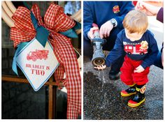 Home Confetti: Merry Monday: Vintage Red Firetruck Party