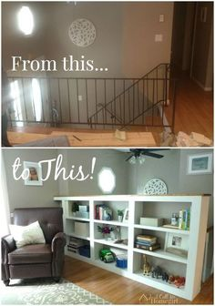 How To Turn Your Ordinary Railings Into Beautiful Built Ins Closet Organizing Painted