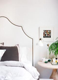Get an upholstered h     Get an upholstered headboard:  www.stylemepretty...