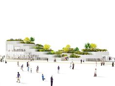 Image 4 of 11 from gallery of Sanya Lake Park Super Market Proposal / NL Architects. Photograph by NL Architects