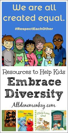 Resources to help kids embrace diversity and choose love and acceptance over judgment. Includes picture books and a resource pack for parents and teachers. Diversity Activities, Multicultural Activities, Multicultural Classroom, Bullying Activities, Summer Activities, Diversity In The Classroom, Inclusion Classroom, Cultural Diversity, Activities For Kids