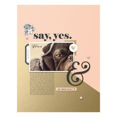 Say Yes digital scra