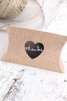 Chalkboard heart gift wrap ♥