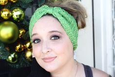 Fairy Tale Winter Headband in Peapod Green