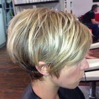 #Blonde#Short#Edgy#Razor#Disconnection#Cut#Color#BySamanthaBunce