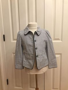 7ff14c62260 Posh Kids Designer Clothing · Best   Co. Girls Baby Blue Jacket Preppy  Seersucker Blazer Sz 5 6 WOW. eBay