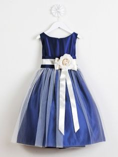 Maybe Kendalls flower girl dress????  Royal Blue Satin and Tulle Flower Girl Dress in Sizes Infants-12 in 11 Colors $39.99 +$20.00