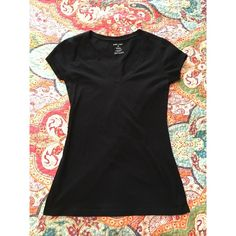 black wet seal shirt •in like new condition •worn maybe once •soft material •v-neck   don't like the price? please make me an offer! Wet Seal Tops Tees - Short Sleeve