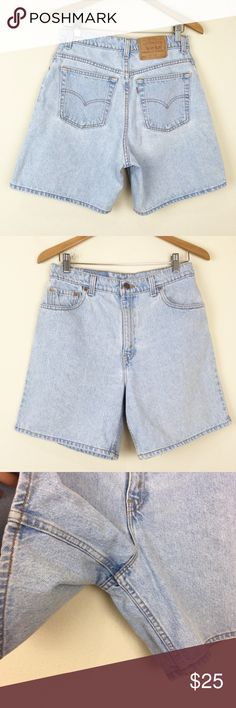 57d95d47 VTG LEVIS High Waist Mom Shorts Relaxed Fit + Heavyweight cotton denim - NO  STRETCH +