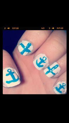Anchor and cross nails