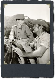 The producers of The Rifleman attributed a great measure of the show's success to the natural chemistry between Chuck Connors, a father of four sons in real life, and his on-screen son, Johnny Crawford.
