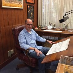 One of the best days of my life sitting in Charles Schulz's chair at his studio. Touching greatness. by terrymooreart