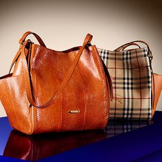 New season leather bags for A W13 in leather and Haymarket check from  Burberry Burberry 6aa296bcd1