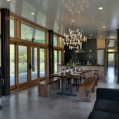 contemporary dining room by CAST architecture