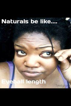 When did you reach eyeball length? Lol #naturalhair #teamnatural #lengthcheck