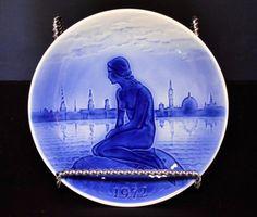 The Little Mermaid Plate H C Anderson 1972 3rd Ed Old Blue Copenhagen Desiree
