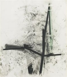 Joel Shapiro - UNTITLED; Creation Date: 1992; Medium: chalk, charcoal and pastel on paper; Dimensions: 78.74 X 68.58 cm.