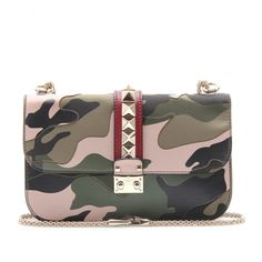 2013 Pre-Fall: Valentino - LOCK MEDIUM CAMOUFLAGE LEATHER SHOULDER BAG
