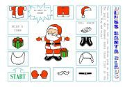 English worksheet: DRESS SANTA CLAUS