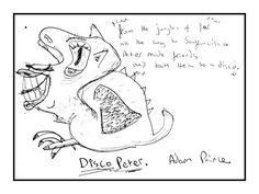 Sketch of the day: Featuring Adam's Monster art called Disco Peter
