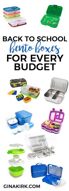 Back to school bento boxes for every budget! | Healthy and fun lunch ideas for kids | Pack lunch or a snack for school with a fun bento box to fit your budget | isshereally.com: http://isshereally.com/home/back-school-bento-boxes/