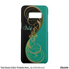 Teal Green Celtic Triskele Monogram Case-Mate Samsung Galaxy S8 Case