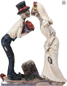 Fãs de zumbis? Ou apenas procurando por um topo de bolo diferente? Esses noivinhos deixarão o casamento de vocês ainda mais divertido www.noivinhostopodebolo.com