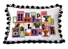 Happy Halloween is the title of this cross stitch pattern from Satsuma Street.