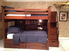 great boy's bunk bed with steps! #hpmkt