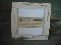 Birch bark picture frame for your woodland by NHWoodscreations, $17.95