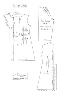 1948 Free Sewing Pattern Draft 3015