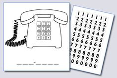 Helping kids learn phone numbers: even has cell phone template