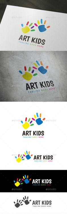 Art Kids Logo Template Vector EPS, AI #logotype Download here: http://graphicriver.net/item/art-kids/10374561?ref=ksioks